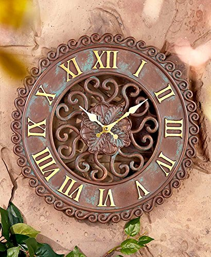 The Lakeside Collection Distressed Look Indoor/Outdoor Clock (Patio Lakeside)