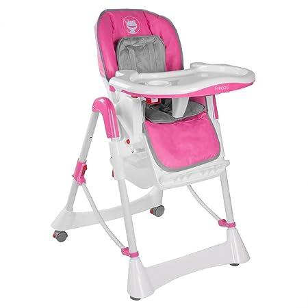 Froggy Kinderhochstuhl Babyhochstuhl mit Sicherheitsgurt Großem Esstisch Höhenverstellbar Zusammenklappbar Kinderstuhl Babyst