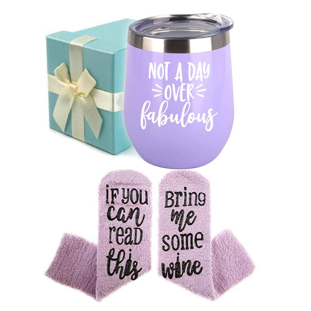 Wine Gift Baskets for Women – Unique Novelty Gift for Mom, Wife, Boss, Sister, Best Friend, Coworkers,Nurse – Christmas gifts, Housewarming Gift – Wine Socks, Wine Tumbler, Coasters, Bottle stoppers