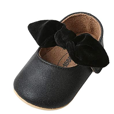 a0ff0d9aabc2 Bebila Baby Girls Shoes Newborn Mary Jane Baby Dress Shoes and Princess  Shoes Bow-Knot