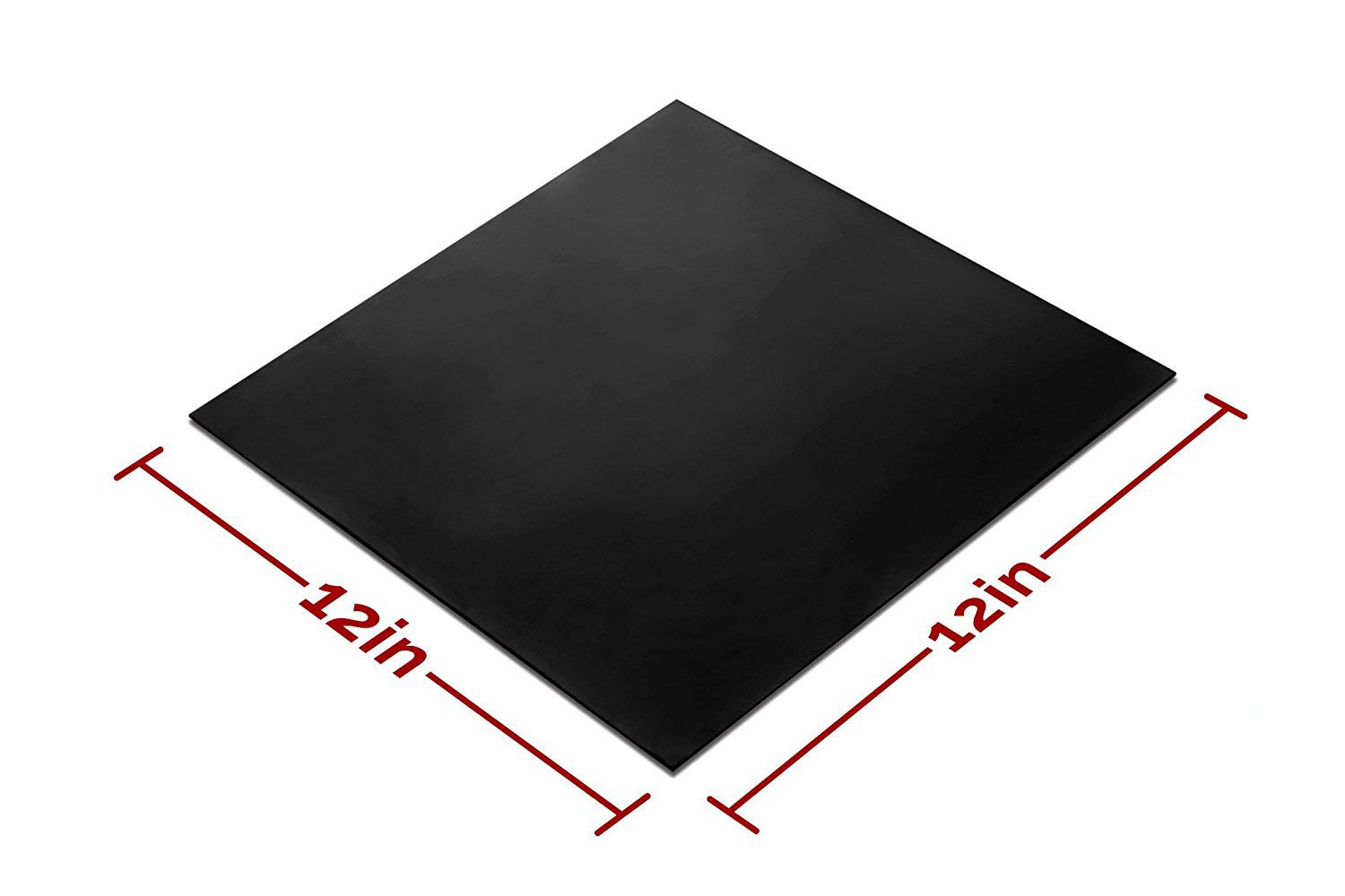 Protection Bumpers Leveling Black Heat Resistant Rubber Pad Thin Silicone Grade Rubber Gasket Sheet 12 by 12 inch,1//25 Inch Thick Gaskets DIY Material Sealing Flooring Supports Abrasion