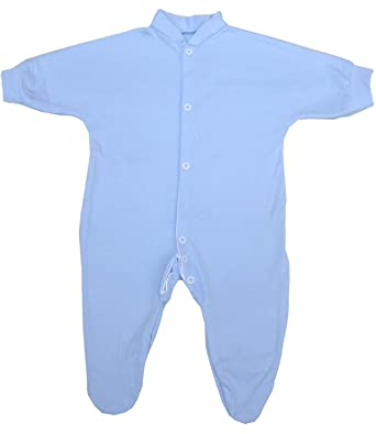 b660bfc3e30 Niccolas B BabyPrem Plain Coloured Cotton Baby Sleepsuit  Amazon.co.uk   Clothing