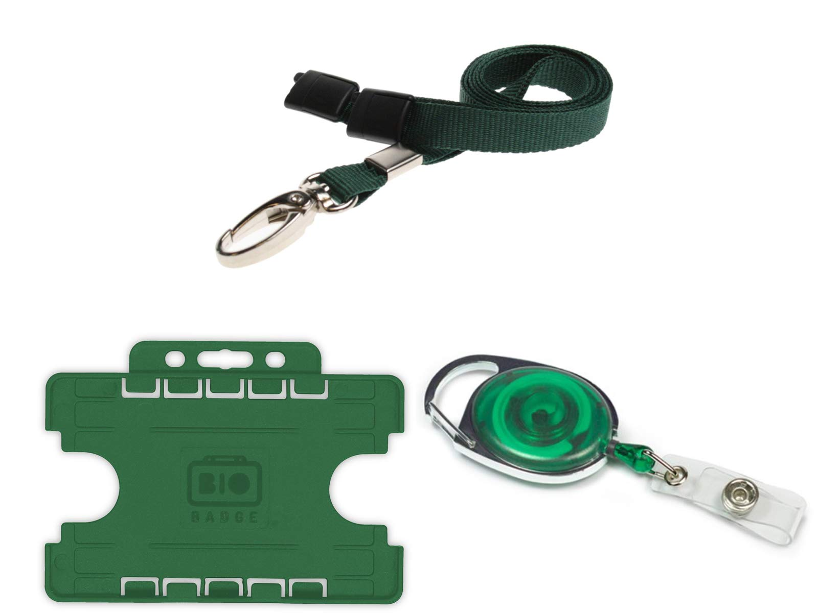 ID Card It ID Badge Holder and Green Premier Yo-Yo Retractable Badge Reel 100