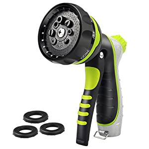arVin Hose Nozzle Sprayer High Pressure Heavy Duty No Leak - Adjustable Water Pressure Garden Sprayer Nozzle for Watering Plants and Gardening, Cleaning Houses, Suitable for Washing Car and Pets