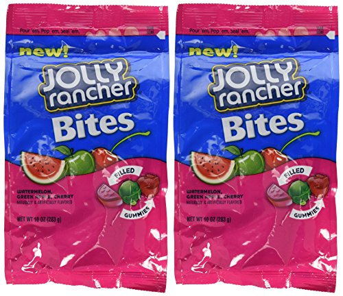 Jolly Rancher Gummies (Jolly Rancher Bites Soft & Chewy Candy, 10-Ounce (Pack of 2))