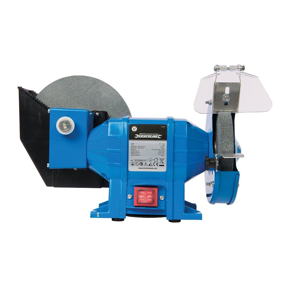 Amoladora de banco seco//h/úmedo 250 W Silverline 544813 250 W