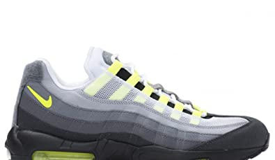 NIKE Air Max 95 Néon OG Patch SP Blanc Jaune Fluo Trainer - Blanc - Blanc