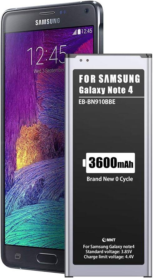 3600mAh Batería para Samsung Galaxy Note 4,EMNT de Alta Capacidad【2020 Nueva versión】 Reemplazo de Ion de Litio batería de Repuesto Compatible con Original Galaxy Note 4 Sin NFC-【2 Years Warranty】: Amazon.es: Electrónica