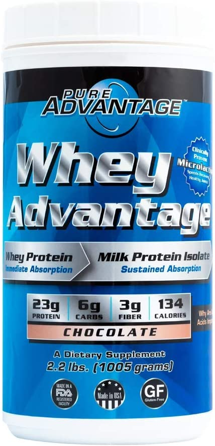 Pure Advantage Whey Time Released Protein Complex, Chocolate, 2.2 Pound