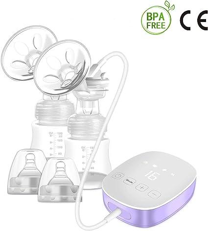 Tire-lait /Électrique Pompe dallaitement Massage du sein Smart Smart grande aspiration bilat/érale Pompe dallaitement automatique silencieuse