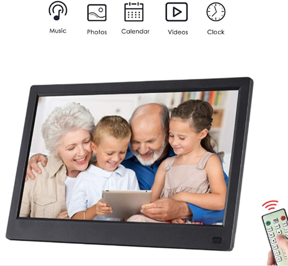 with Remote Control HDhigh Resolution Support Music Video Playback Mengen88 10 Inch Digital Photo Frame,IPS Screen Full Viewing Angle 1080P 1280800