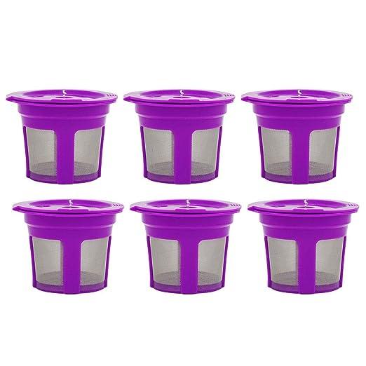 6 cápsulas de filtro de café K-Cup reutilizables y recargables ...