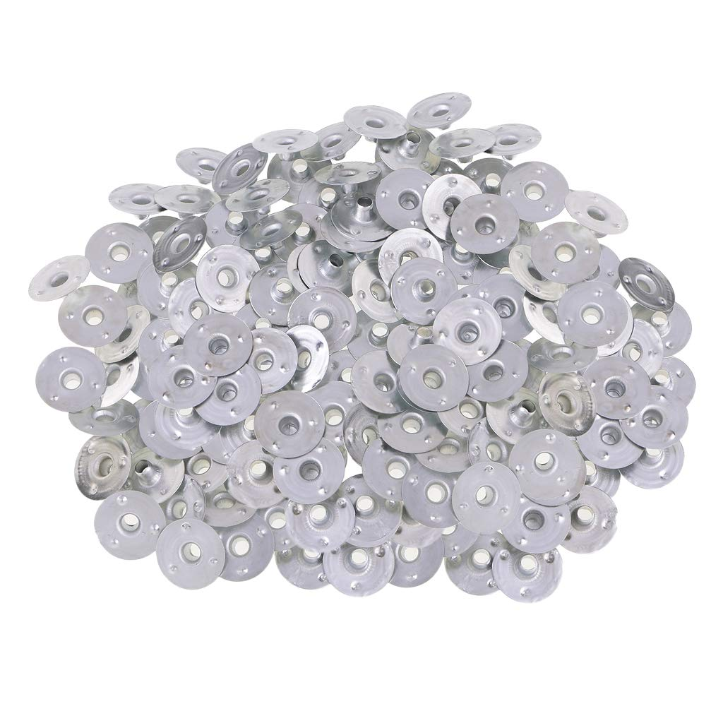 Prettyia 500 Pieces Silver Metal Tea Lights Candle Wick Sustainers Wicks Tab Base Candle Making Accessories 12.5x3mm