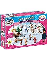 Playmobil Adventskalender 70260 Heidi's Winterwereld, voor Kinderen vanaf 4 Jaar, 68-delig
