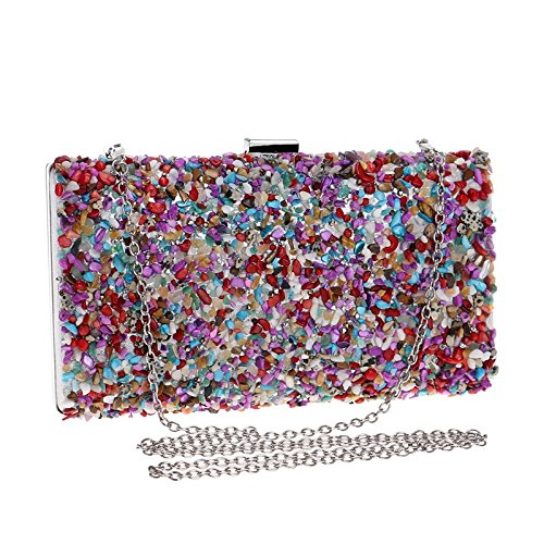 Party Wedding Multicolor Purse Gift Shoulder Stones Prom Clubs Handbag Bridal Bag Bag Ladies Evening Small Clutch Women For Sequins 7qOwfU