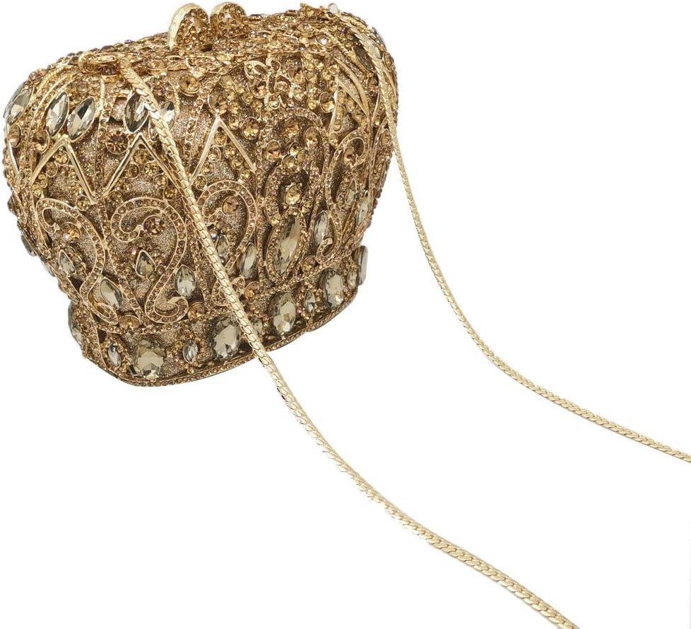XLJJB Borsa da Sera da Sposa con Pochette in Cristallo da Donna con Pochette E Pochette da Sposa Multi Crystal Clutch