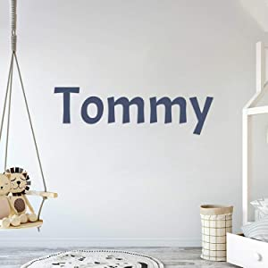 Multiple Font Custom Name Nursery Wall Decal - Mural Wall Decal Sticker for Home Children's Bedroom (AM002)