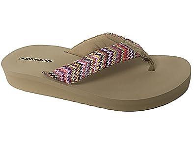 449c88f41f5995 Ladies Classic Dunlop Raffia Toe Post Low Wedge Platform Foam Flip Flops  Sandals Size 3-8  Amazon.co.uk  Shoes   Bags
