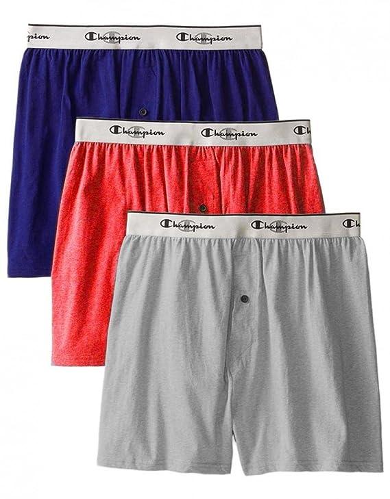 ce395899b807 Champion Men's 3-Pack Knit Boxer at Amazon Men's Clothing store: