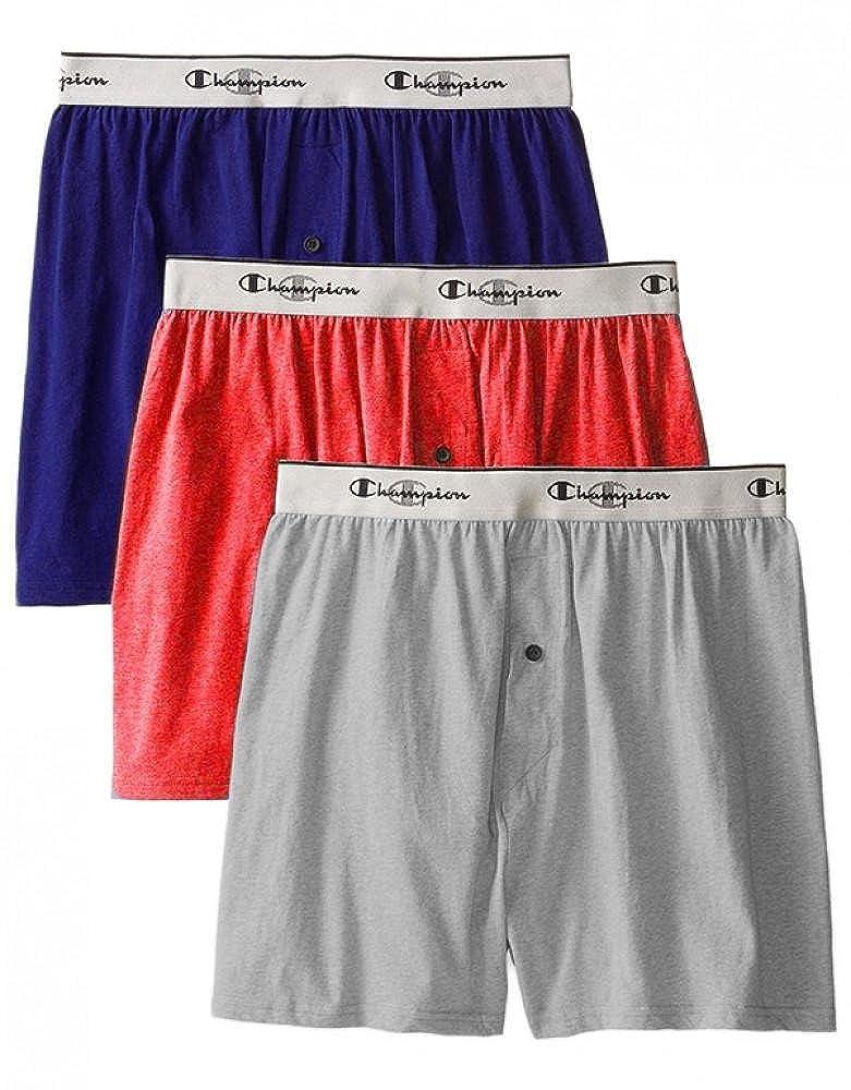 Champion Mens 3-Pack Knit Boxer