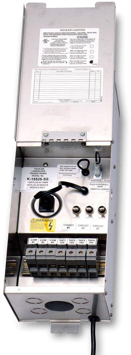 Kichler 15PR100SS Pro Series Transformer 100W, Stainless Steel