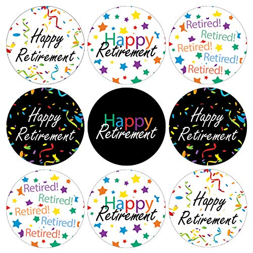 - Retirement Party Favor Labels - 180 Stickers