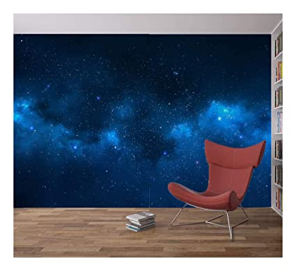 Space Galaxy Stars Planets Wallpaper Mural Photo Children Kids Bedroom Home Deco