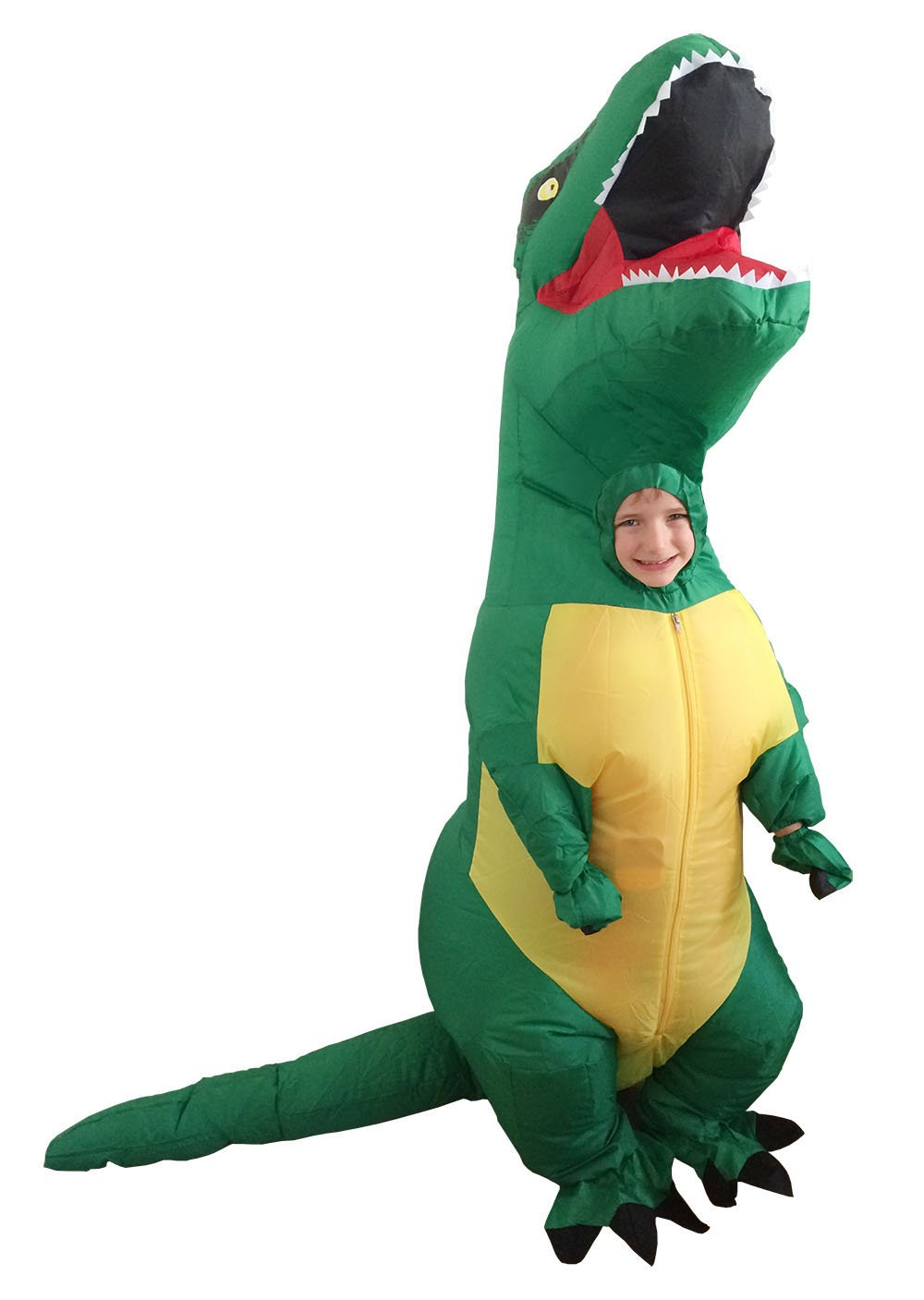 GoPrime T-rex Inflatable Costume,Kid's Size,Pick up School Bus,Scare Dogs (GGK)