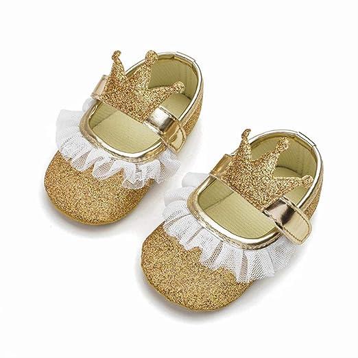 GUHUA Zapatos De Bebé para Niñas Pequeñas, Tela De Lentejuelas ...