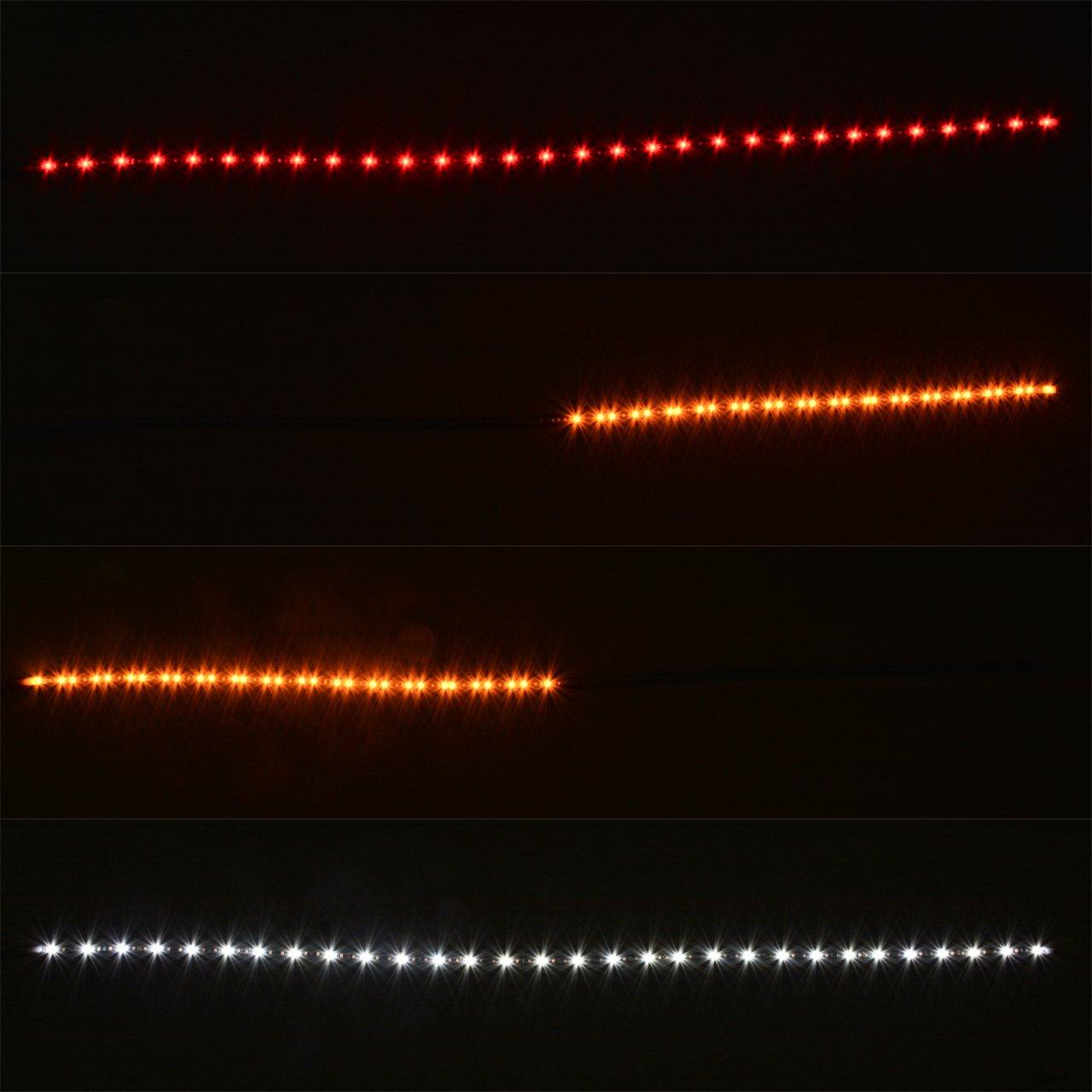 Katur 119,4cm LED Tailgate Barre lumineuse Rouge//blanc rsistant aux intempries Aluminium Rigide Camion Envers Course Frein Tour Signal pour SUV RV Ram Chevy