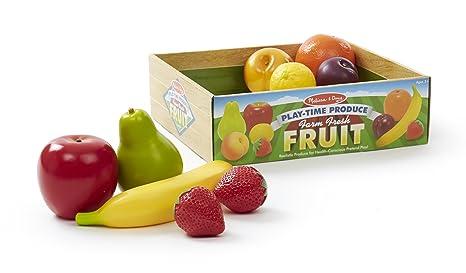 Amazoncom Melissa Doug Playtime Produce Fruits Play Food Set