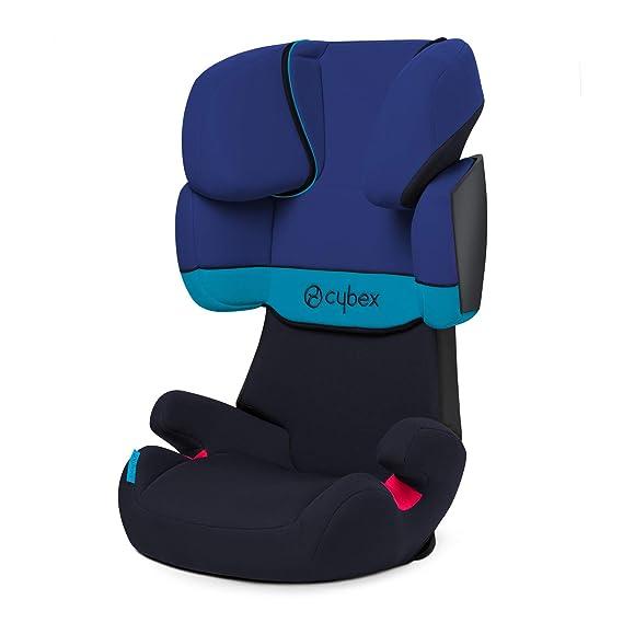 Cybex Solution X - Silla de coche grupo 2/3 (15-36 kg), Desde los 3 hasta los 12 años aprox., Sin Isofix, Azul (Blue Moon)