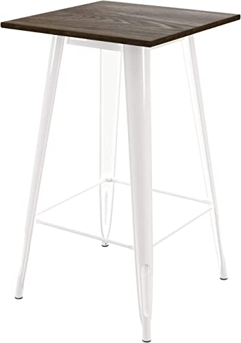 DHP Elie Bar Table, White