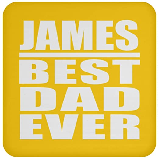 James Best Dad Ever - Drink Coaster Athletic Gold Posavasos ...