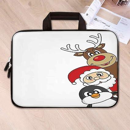Amazon Com Christmas Decorations Neoprene Laptop Bag Santa Claus