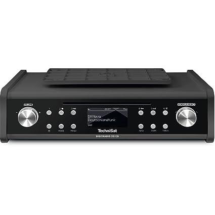TechniSat DIGITRADIO 20 CD – Modernes & kompaktes DAB+ Küchen- &  Badezimmerradio – Empfangsstarkes UKW Unterbauradio mit CD Player & Uhr