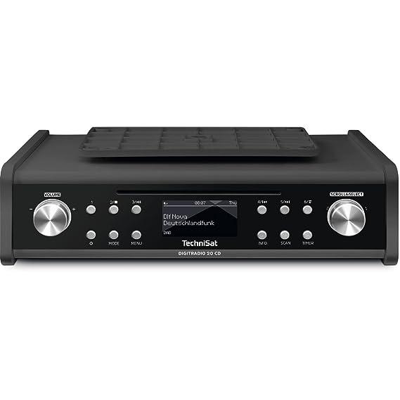 TechniSat DIGITRADIO 20 CD – Kompaktes DAB+ Küchen- & Badezimmerradio – Empfangsstarkes UKW Unterbauradio mit CD Player und U