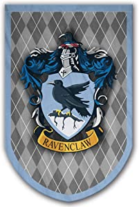 Harry Potter Style Banner - Ravenclaw Flag 37x24 in - Printed on Both Sides - Durable Enough for Outside Conditions - Perfect Barware Man Cave Gift - Unique HP Collectible Accessories