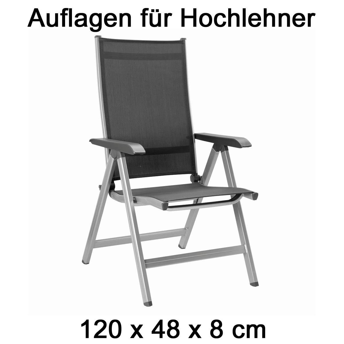 Amazon.de: 4 Auflagen für Hochlehner Gartenmöbel Kettler Dessin 857 ...