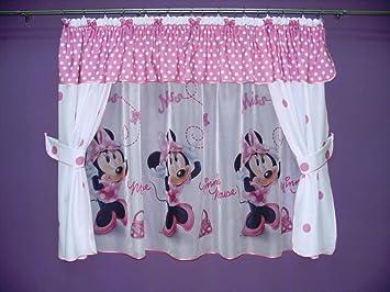 Amazon.de: Reihe von Vorhänge Minnie Mouse mit lambrequin und ...