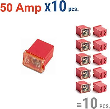 Nissan Cars and SUVs and Toyota Pickup Trucks 10 Pc Automotive TALL//STANDARD PROFILE JCASE Fuse 50 Amp Fuse Kit for Ford Chevy//GM