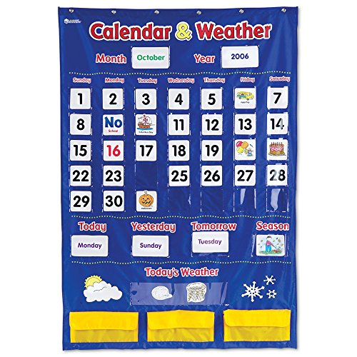 Learning Charts Classroom Material - Learning Resources Calendar and Weather Pocket Chart