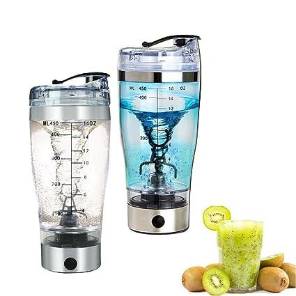Batidora Eléctrica para 450ml Bebidas Agitador Eléctrico Shaker Botella mezclador para Jugo, Cóctel, Café
