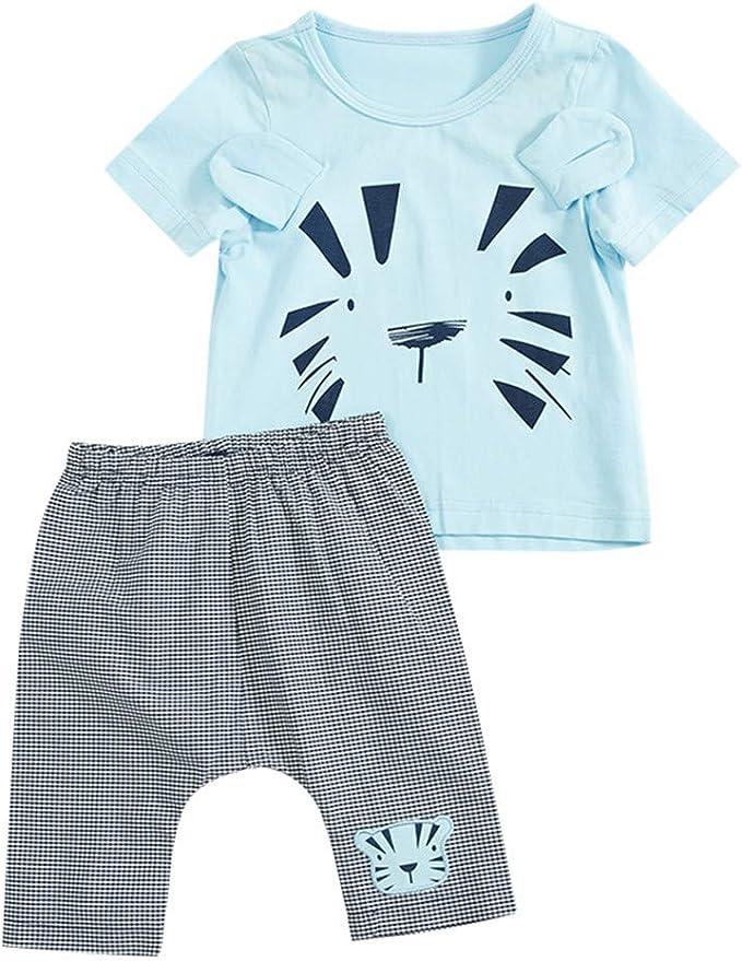 Pantalones para Beb/é Ni/ños Ni/ñas Oto/ño Invierno Ropa Conjunto 3 Mes 2 A/ños Amlaiworld Camisetas de manga larga Beb/é