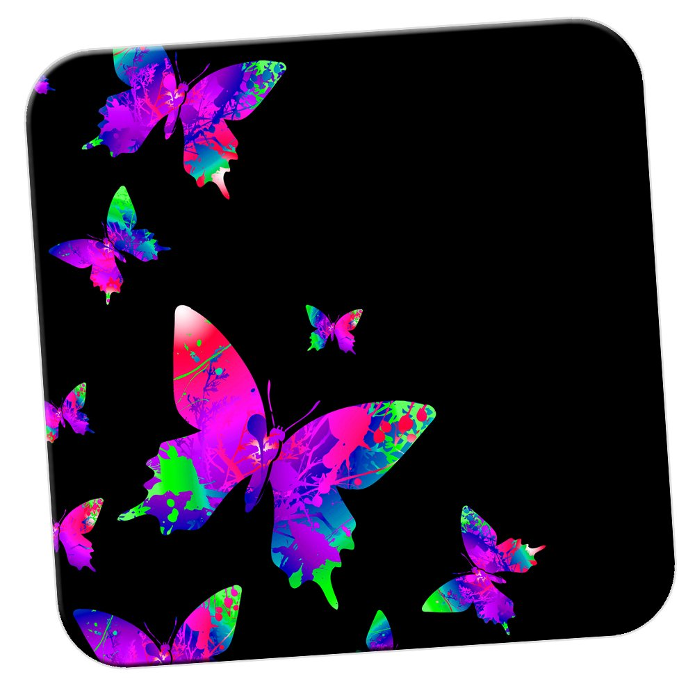 51c85ce1be11ca Acrilico Rainbow Paint Splash/confezione di sottobicchieri farfalle Yellow  Rainbow Splash Butterflies 6 x Coaster Fancy A Snuggle