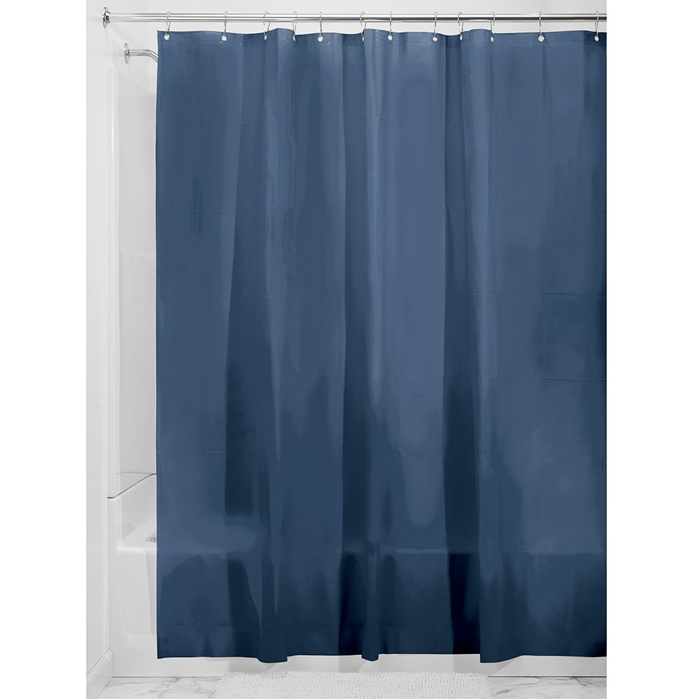 InterDesign Liner Curtain for Shower, Made of EVA, Navy Blue, 180.0 x 200.0 cm 14734EU
