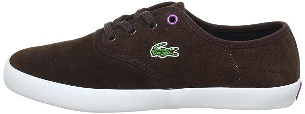 bc30ebb0d8 Lacoste Gambetta SU SPW, Baskets Femme - Marron - Brown - Braun  (Dunkelbraun/Purple), 40 (7 UK): Amazon.fr: Chaussures et Sacs