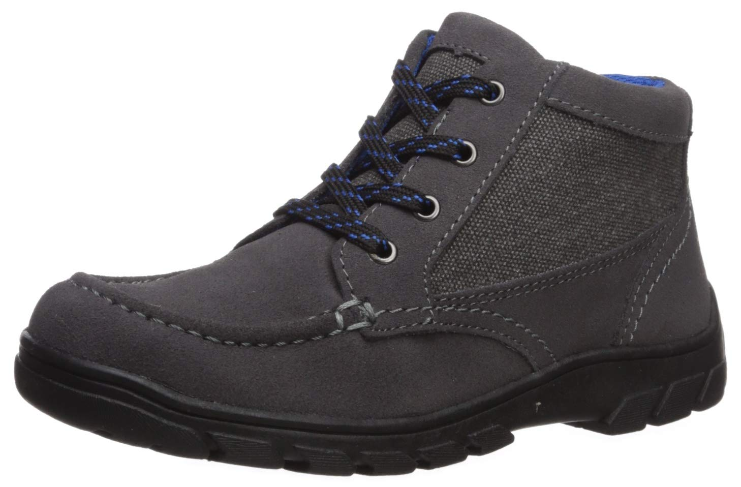 Florsheim Kids Boys' Trektion Hiker Jr, Dark Gray, 1 M US Little Kid