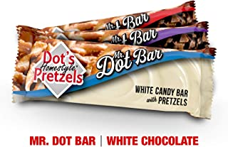 product image for Dots Homestyle Pretzels Mr. Dot White Chocolate, Pretzel, and Toffee Candy Bar Case of 24 Bars