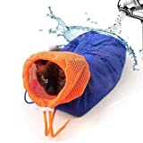 CatYou Cat Grooming Bag Puppy Dog Cleaning Polyester Soft Mesh Scratch & Biting Resisted for Bathing Injecting Examining Nail